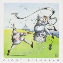 Gigot d'Agneau de pré salé, carte postale recette