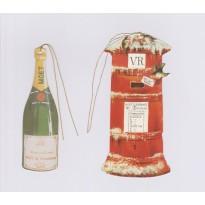 Etiquettes Noël vintage style anglais pour cadeaux et déco
