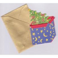 """""""Sapin de Noël"""" et son enveloppe or, étiquette en mini-carte de Noel"""