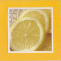 Le citron de Menton en rondelles, carte cadre