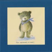 """""""Mon nounours à moi"""" carte cadre"""
