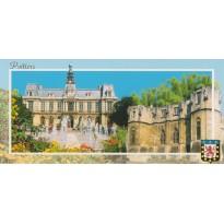 Poitiers, Palais des ducs d'Aquitaine ou Palais de Justice et Hôtel de Ville, carte régionale.