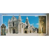 Carte postale Poitiers, Eglise Notre Dame, carte régionale.