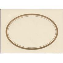 Etiquettes autocollantes ovales bordées or pour Terrines et Conserves