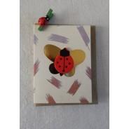"""""""Coccinelles""""  petites cartes doubles avec mini pince"""