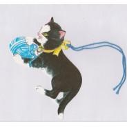 Etiquette Chat Noir, avec lien bleu