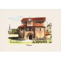 Carte postale du Temple Saint Jean de Poitiers- Aquarelle