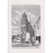 Carte Eglise Sainte Radegonde de Poitiers, plume et encre de chine