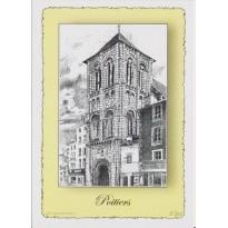 Carte Saint Porchaire de Poitiers, plume et encre de chine en encadré