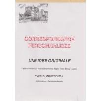 Bloc correspondance personnalisé imprimé Hôtel Jean Beaucé à Poitiers
