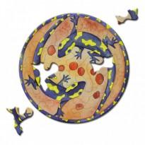 """""""Les Salamandres"""" , puzzle rond et coloré"""