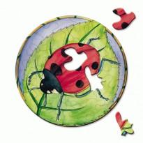 Puzzle La Coccinelle, puzzle rond original