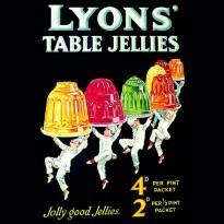 """Magnet """"Jolly Good Jellies"""" publicité anglaise vintage"""