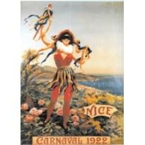 Carnaval de Nice, magnet métal publicitaire style rétro