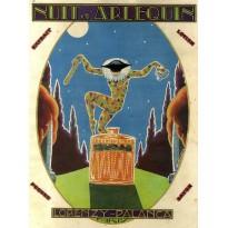 Nuit d'Arlequin, produits de parfumerie Lorenzy-Palanca, Magnet métal publicitaire style retro
