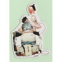 Le Tatoueur, Magnet d'un dessin de Norman Rockwell,