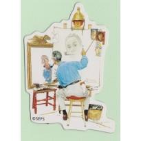 Magnet Norman Rockwell, Triple autoportrait