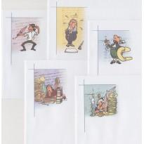 """Enveloppes illustrées """"Les Ecrivains"""" en 2 formats"""