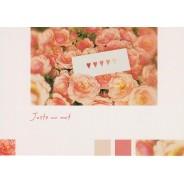 """Carte message """"Juste un petit mot"""", des roses et des coeurs ..."""