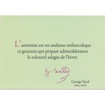 Carte citation de Georges Sand sur les Saisons de la Vie