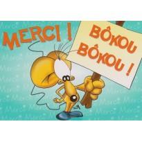 """Carte """"Merci Bokou"""" humoristique"""