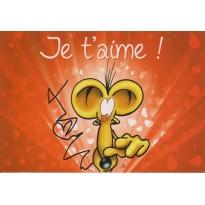 "Carte tendre  ""Je t'Aime"" avec tendresse et humour !"