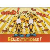 Carte de Félicitations humoristique pour toutes les occasions.