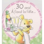 Cartes anniversaires de 18 à 50 ans