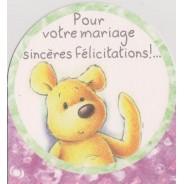 Cartes de félicitations et Voeux de Bonheur  pour jeunes mariés