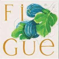 Figues, carte d'une des aquarelles fruitières de Jean-Marie Drouet