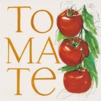 Tomate, Carte Aquarelle de Jean-Marie Drouet