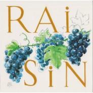 Le Raisin, Carte Aquarelle de Jean-Marie Drouet