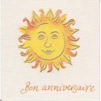 """Carte """" Bon Anniversaire"""" Rayon de Soleil pour jour exceptionnel"""