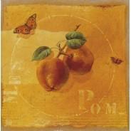 Pommes, carte reproduction d'une huile sur toile de Frédérique Dupleich