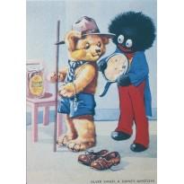 Ancienne publicité Silver Shred Appetizers en carte postale