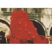 Carnaval de Venise, masque en carte postale