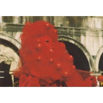 Carnaval de Venise, masque en carte postale photo