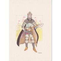5 Chevaliers du Moyen Age, cartes postales au choix