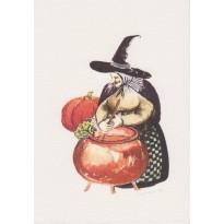 Charmantes petites sorcières, carte pour enfants
