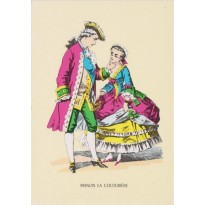 Manon, la Couturière, carte reproduction d'image d'Epinal