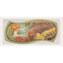 Savon L'Auréole à la Violette, reproduction ancienne étiquette