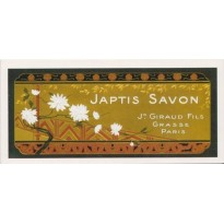 Savon Japtis, carte reproduction d'étiquette vintage
