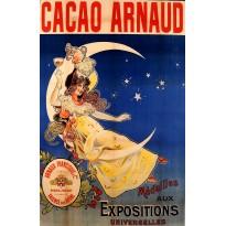 Cacao Arnaud, Magnet métal publicitaire style retro