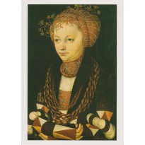 Portrait de Femme par Lucas Cranach, carte postale reproduction de tableau