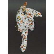 """""""Perroquet"""", Faïence d'Emile Gallé, Nancy, objet d'art en carte postale"""