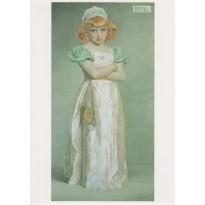 """""""Portrait d'une Jeune Fille"""" de Frederick Sandys, reproduction sur carte postale"""