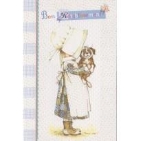 """""""Bon rétablissement"""", carte signée Holly Hobbie, années 60"""