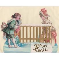 """""""Les Amoureux"""", carte de Saint Valentin en 3D"""