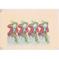 Les Grenouilles  : cartes de grenouilles humanisées et costumées