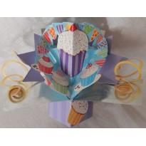 Cupcakes en 3 D, carte gourmandises à ouvrir